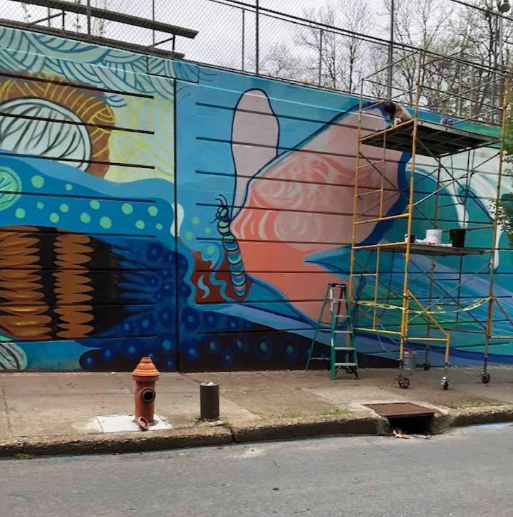 Fountain Street Mural, Final Touches!